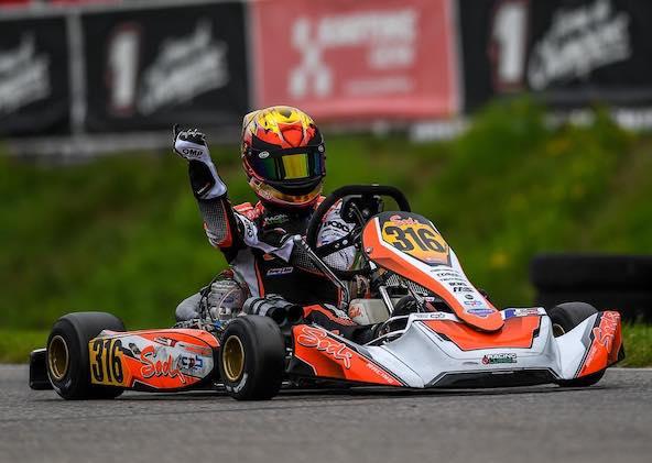 Belle victoire de Thomas Imbourg en Course 1 en KZ2 National