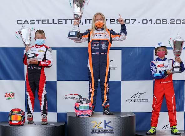 Le podium en X30 Mini avec le Français Thomas Pradier (à g.) sur la 2e marche