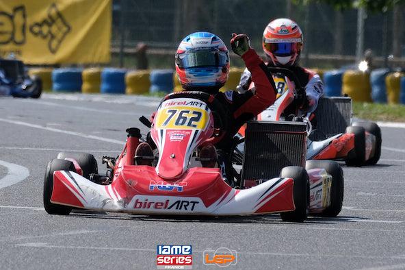 Victoire de Gabin Leuillet en KZ2