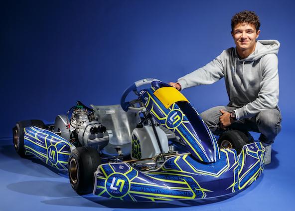 Le pilote de Formule 1 Lando Norris revient en Kart-1