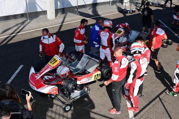Milell et Tony Kart Champions du Monde KZ Travisanutto gagne en KZ2-11