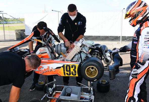 Milell et Tony Kart Champions du Monde KZ Travisanutto gagne en KZ2-16