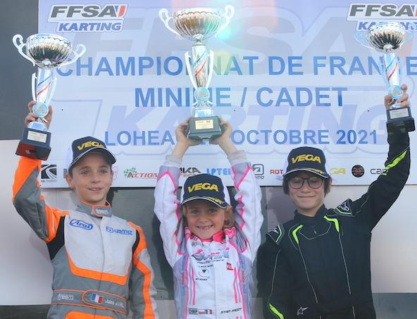 De g. à dr., Jules Avril (Champion de France), Stan Fagot et Walter Schultz