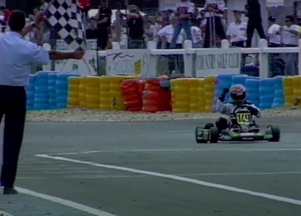 Alban Martinet en 1996 à Salbris en Formule A